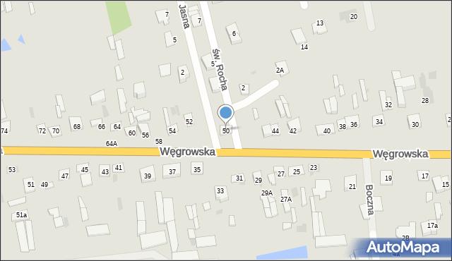 Sokołów Podlaski, Węgrowska, 50, mapa Sokołów Podlaski