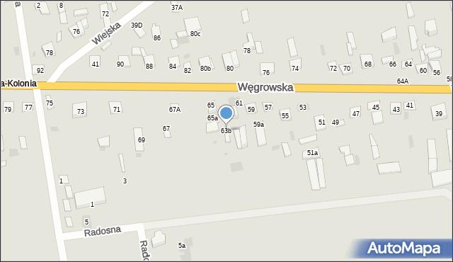 Sokołów Podlaski, Węgrowska, 63b, mapa Sokołów Podlaski