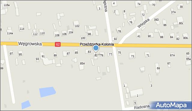 Sokołów Podlaski, Węgrowska, 81, mapa Sokołów Podlaski
