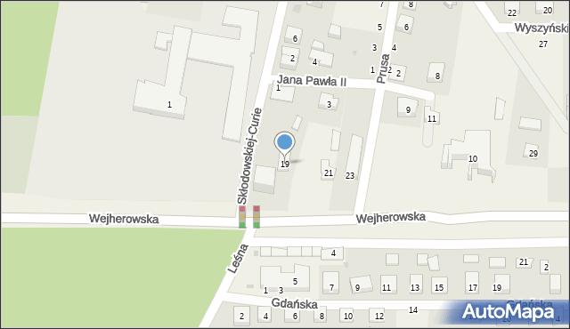 Strzebielino, Wejherowska, 19, mapa Strzebielino