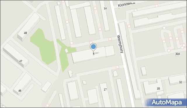 Szczecin, Wernyhory, 5, mapa Szczecina