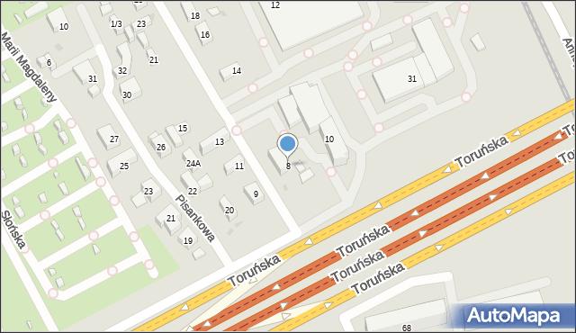 Warszawa, Wenecka, 8, mapa Warszawy