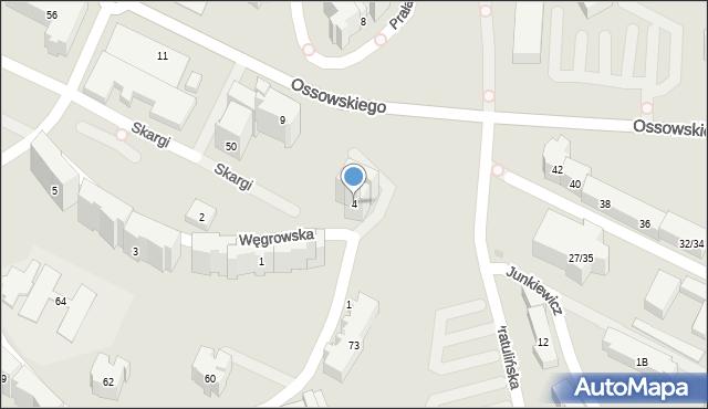 Warszawa, Węgrowska, 4, mapa Warszawy