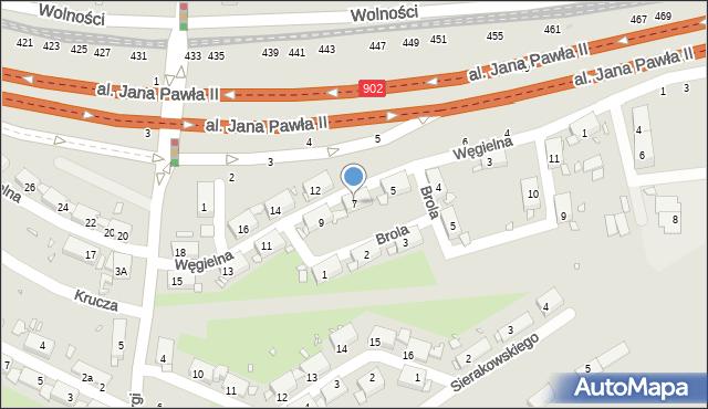 Zabrze, Węgielna, 7, mapa Zabrza
