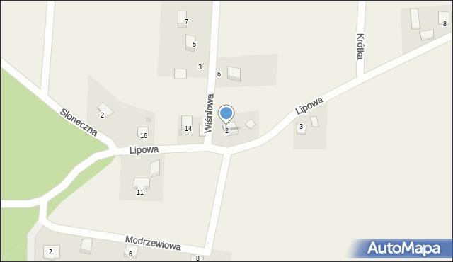 Barłomino, Wiśniowa, 2, mapa Barłomino