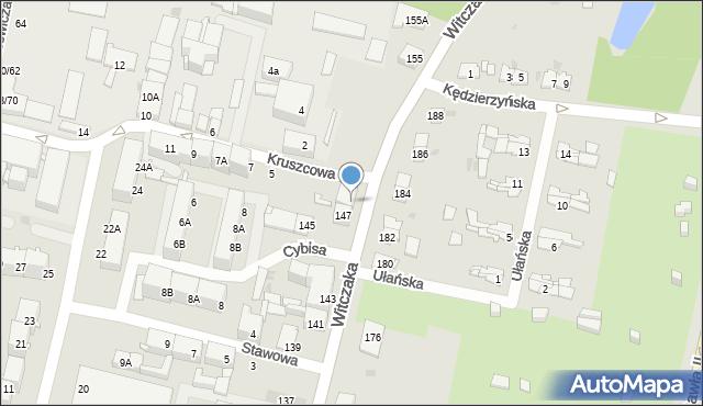 Bytom, Witczaka Stanisława, 149, mapa Bytomia