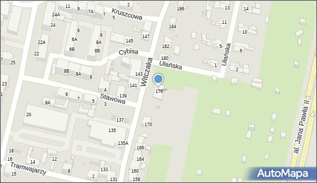 Bytom, Witczaka Stanisława, 176, mapa Bytomia