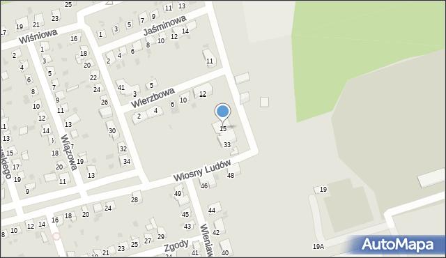 Bytom, Wierzbowa, 15, mapa Bytomia