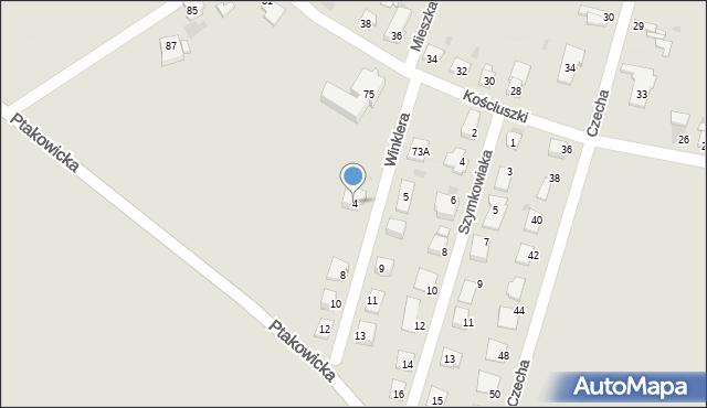 Bytom, Winklera Waltera, 4, mapa Bytomia