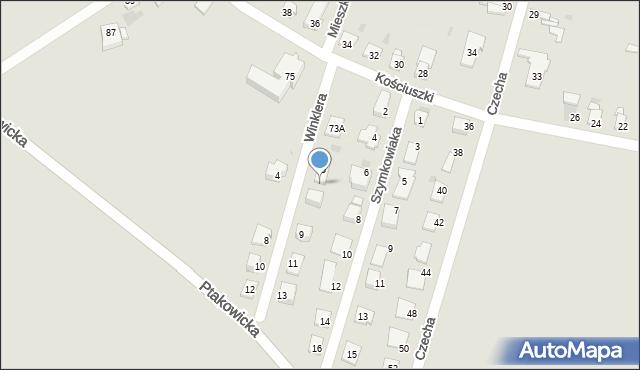 Bytom, Winklera Waltera, 7, mapa Bytomia