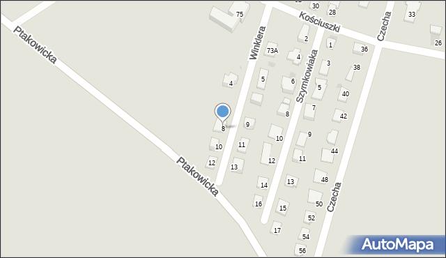 Bytom, Winklera Waltera, 8, mapa Bytomia