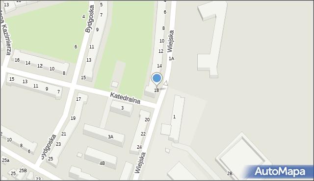 Chełm, Wiejska, 18, mapa Chełma