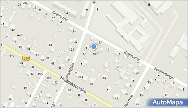 Chełm, Wiejska, 5B, mapa Chełma