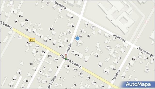 Chełm, Wiejska, 7, mapa Chełma