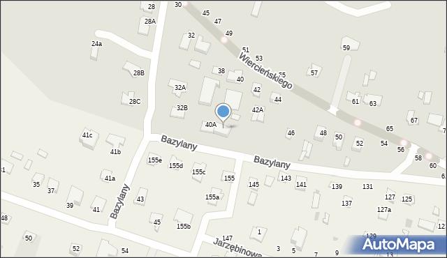 Chełm, Wiercieńskiego Henryka, 40B, mapa Chełma
