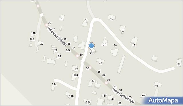 Chełm, Wiercieńskiego Henryka, 41, mapa Chełma