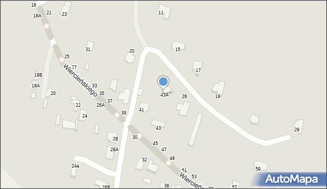 Chełm, Wiercieńskiego Henryka, 43A, mapa Chełma