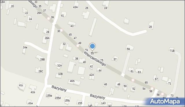 Chełm, Wiercieńskiego Henryka, 53, mapa Chełma