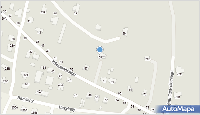 Chełm, Wiercieńskiego Henryka, 59, mapa Chełma