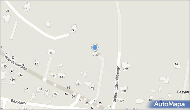 Chełm, Wiercieńskiego Henryka, 71B, mapa Chełma