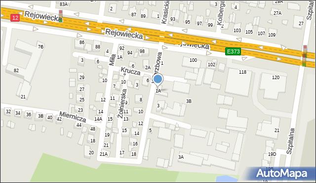 Chełm, Wierzbowa, 1A, mapa Chełma