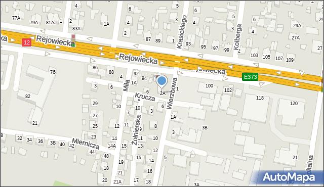 Chełm, Wierzbowa, 2A, mapa Chełma