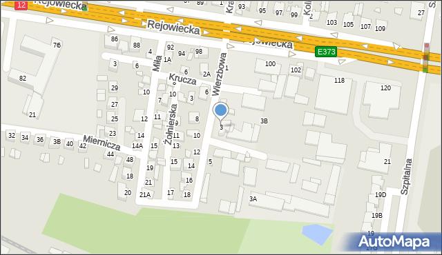 Chełm, Wierzbowa, 3, mapa Chełma