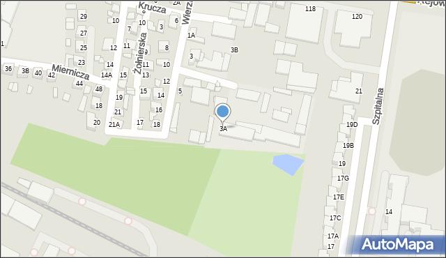 Chełm, Wierzbowa, 3A, mapa Chełma