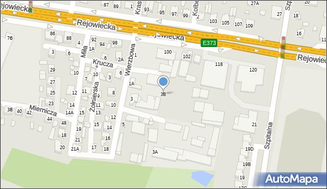 Chełm, Wierzbowa, 3B, mapa Chełma
