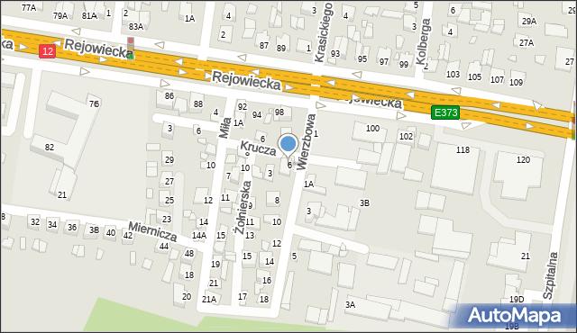 Chełm, Wierzbowa, 6, mapa Chełma