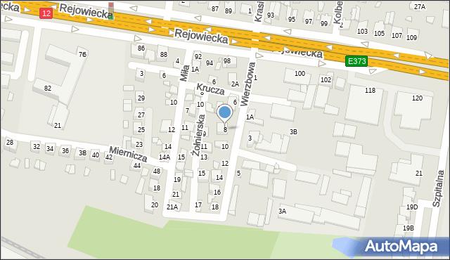 Chełm, Wierzbowa, 8, mapa Chełma
