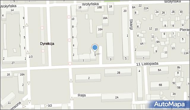 Chełm, Wileńska, 1, mapa Chełma