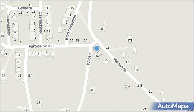Chełm, Witosa Wincentego, 34, mapa Chełma