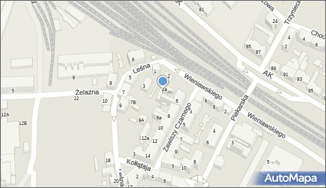 Chorzów, Wieniawskiego Henryka, 2b, mapa Chorzów