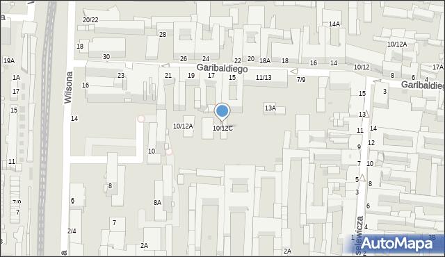 Częstochowa, Wilsona Thomasa Woodrowa, 10/12C, mapa Częstochowy