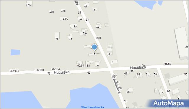 Częstochowa, Wileńska, 3, mapa Częstochowy