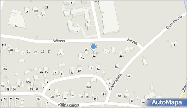 Dobczyce, Witosa Wincentego, 11, mapa Dobczyce
