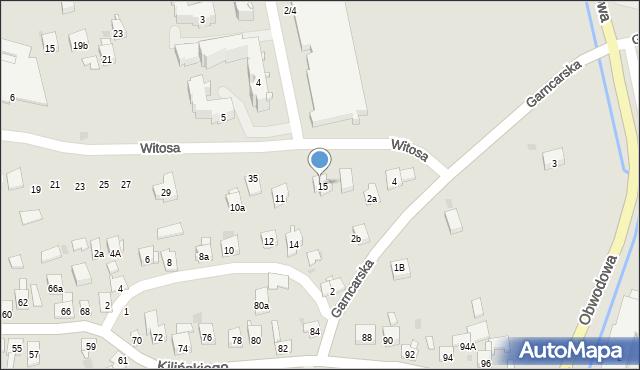 Dobczyce, Witosa Wincentego, 15, mapa Dobczyce