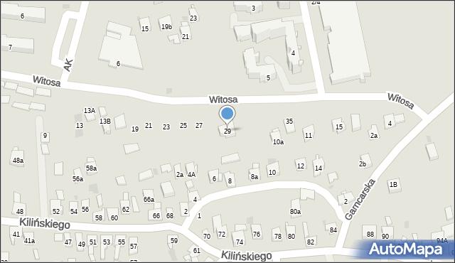 Dobczyce, Witosa Wincentego, 29, mapa Dobczyce