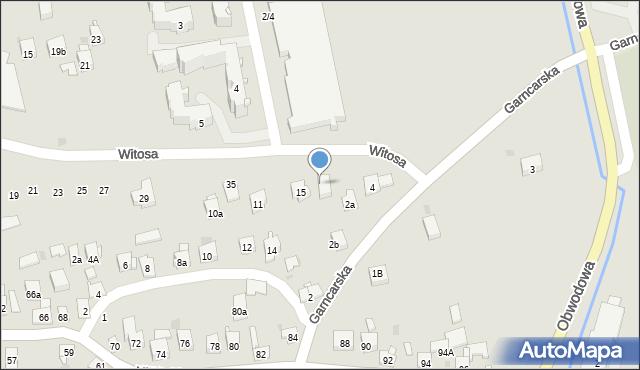 Dobczyce, Witosa Wincentego, 43, mapa Dobczyce