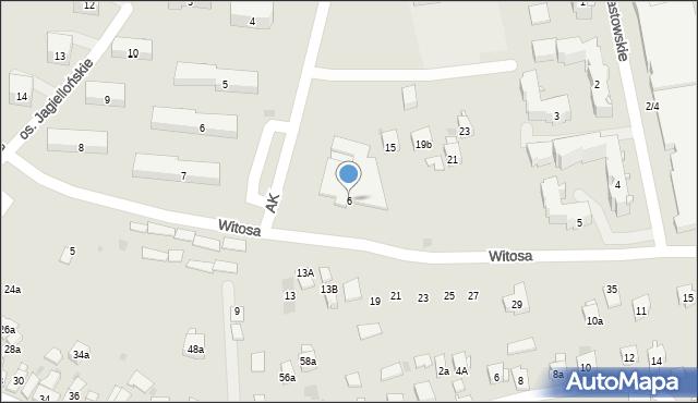 Dobczyce, Witosa Wincentego, 6, mapa Dobczyce