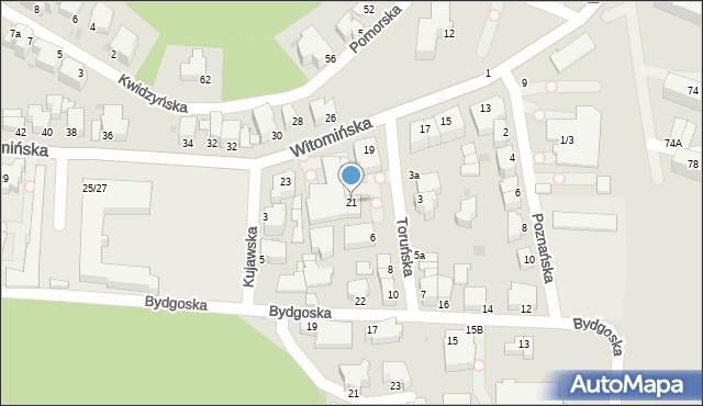 Gdynia, Witomińska, 21, mapa Gdyni