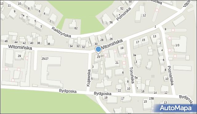 Gdynia, Witomińska, 23, mapa Gdyni