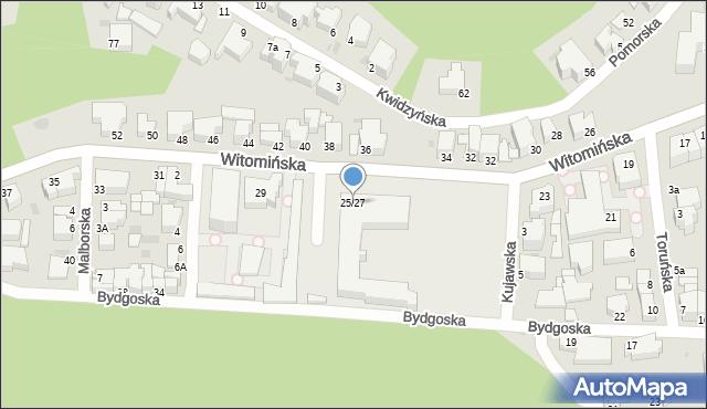 Gdynia, Witomińska, 25/27, mapa Gdyni