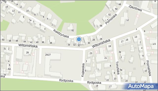 Gdynia, Witomińska, 32, mapa Gdyni