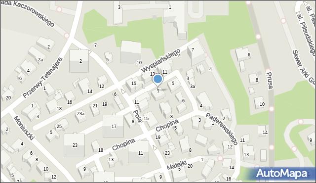 Gdynia, Wieniawskiego Henryka, 7, mapa Gdyni