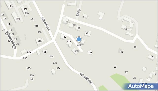 Gdynia, Wiczlińska, 62E, mapa Gdyni