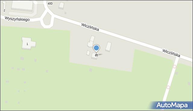 Gdynia, Wiczlińska, 65, mapa Gdyni