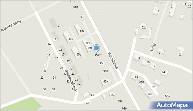 Gdynia, Wiczlińska, 95d, mapa Gdyni