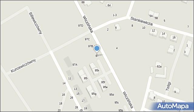 Gdynia, Wiczlińska, 97, mapa Gdyni